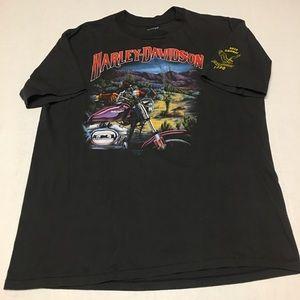 1990 3D emblem Harley Davidson Motorcycles t shirt